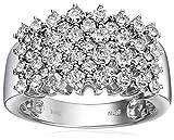 14k White Gold Pyramid Diamond Ring (2 cttw, I-J Color, I2-I3 Clarity), Size 7