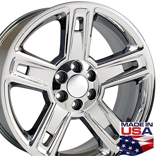 22x9 Wheel Fits GM Truck - Chevy Silverado Style PVD Chrome Rim (2015 Chevy Silverado Rims compare prices)