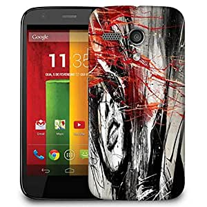 Snoogg Woman Artistic Designer Protective Phone Back Case Cover For Motorola G / Moto G