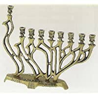 Traditional Menorah, Brass.