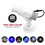 Instagobo LED Custom Image Gobo Logo Projector Light with Manual Zoom&Focus Customized Gobos for Indoor Use Company Hotel Restaurant Advertising Signs (15W, White) (Color: White, Tamaño: 15W(Indoor))