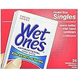 Wet Ones Antibacterial Hand Wipes Singles, 24-Count