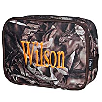 Personalized Camo Double Zip Two Compartment Cosmetic Makeup Bag