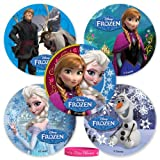 75 Disney Frozen Movie Stickers PLUS Our Exclusive Princess Bracelet by Lilly & the Bee Novelties