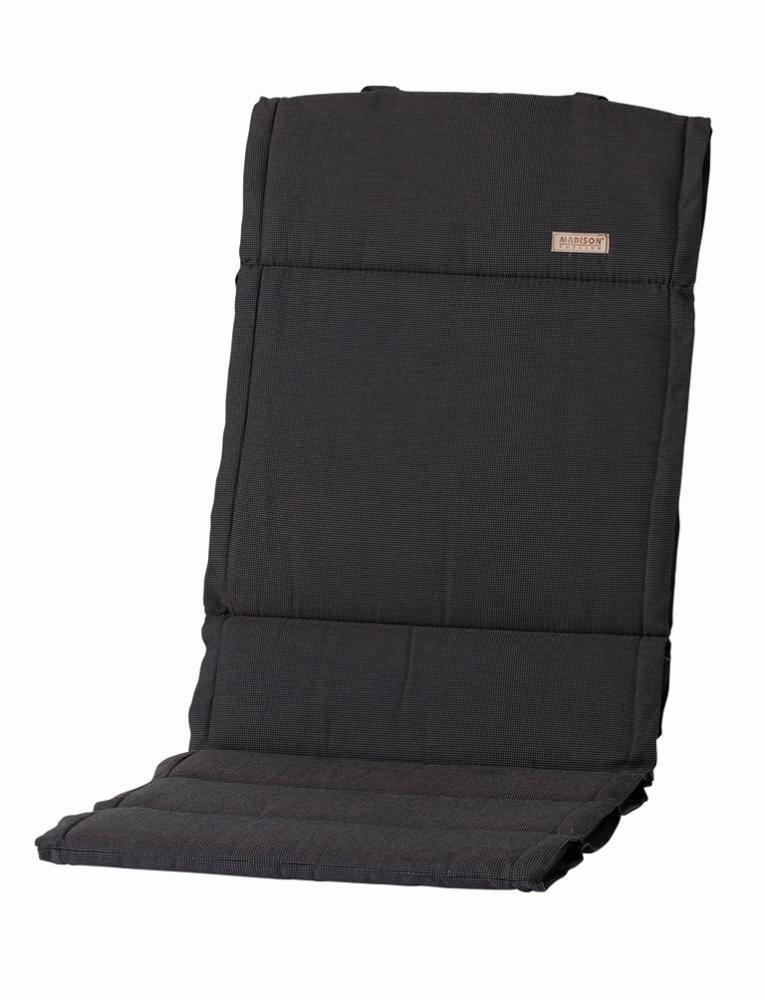6 Stück MADISON Dessin Rib Sitz-Auflage für Klappsessel, 100% Polyester, 123 x 50 x 4 cm, in schwarz günstig online kaufen