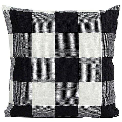 ebuygo-sh-black-white-checkers-plaids-throw-pillow-case-sham-decor-cushion-covers-square-18x18-inch-