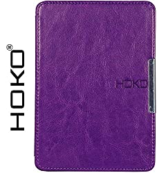 Kindle Paperwhite Case, HOKO Purple Slim Leather Flip Case Cover with magnetic closure for Kindle Paperwhite (Auto wake and sleep)