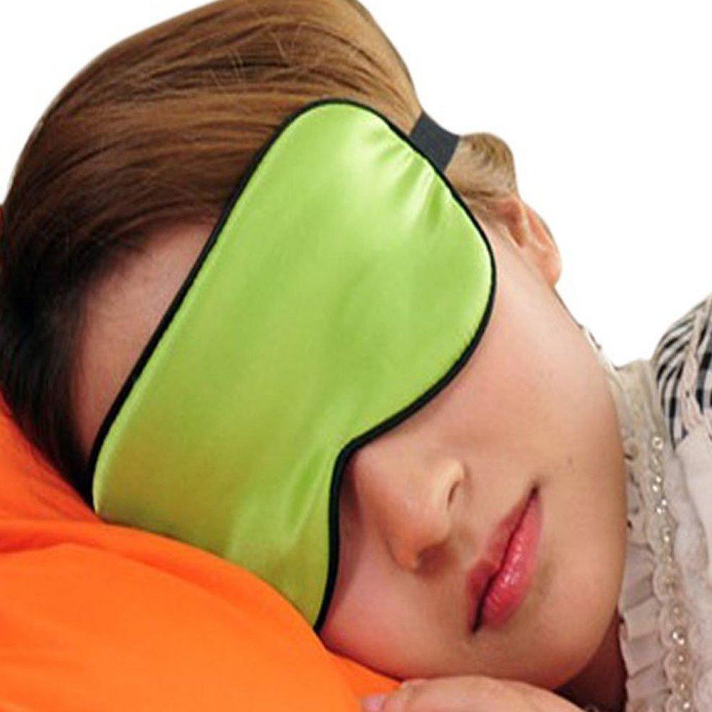 EUBUY Eyepatch Blinder Winker Eyeshade Sleeping Pure Silk Eye Mask Goggles(Navy Blue)