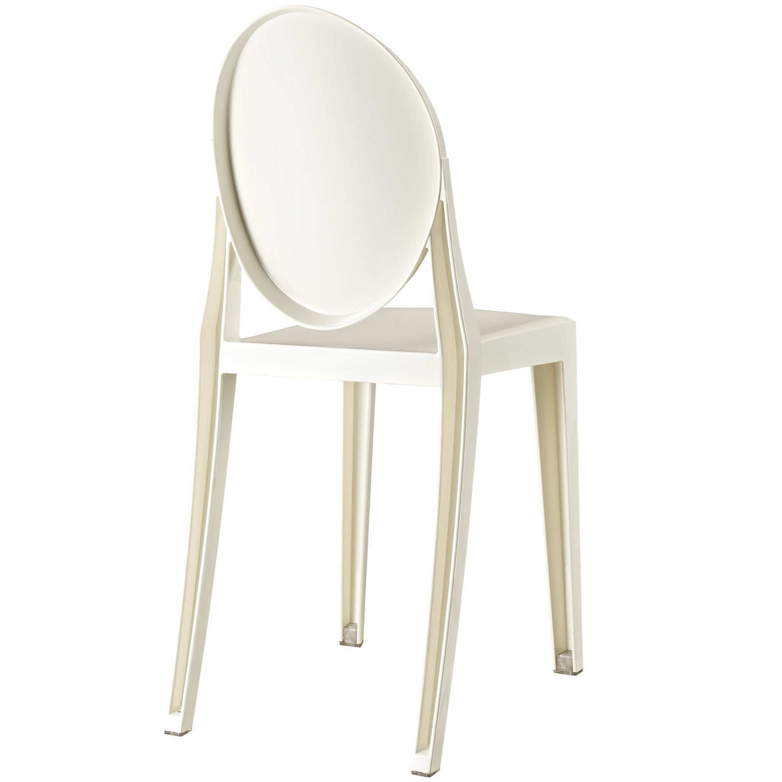 Lexmod Philippe Starck Style Victoria Ghost Chair In White