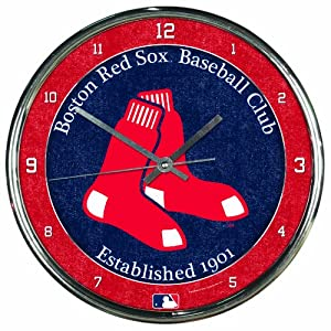 MLB Boston Red Sox Chrome Clock by WinCraft