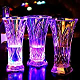Colorful Flashing Water Sensor LED Beer Mug Juice Cup for Bar Club Party shopping