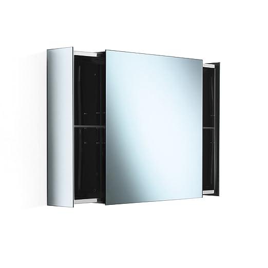 Lineabeta 51513.29 Specchio Contenitore, Inox/Lucido