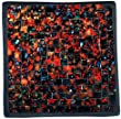 "Mosaic Glass Tray, One of a Kind - ""Fire"" Theme - Approx. 7.5"" X 7.5"""