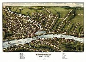 Map of Gardiner Maine 1878
