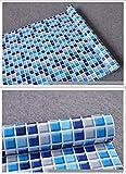 3world DIY タイル調 防水 壁紙 シール 45cmx10m SW461クリアブルー