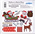 U-Mount Unmounted Rubber Stamp Sheet I Believe in Santa Claus