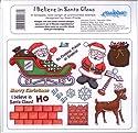 U-Mount Unmounted Rubber Stamp Sheet I Believe in Santa Claus