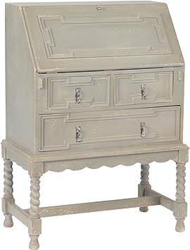 Scriban secrétaire style Louis XIII patiné gris