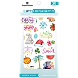 Paper House Productions STBK-0004E STBK-0001 Productivity 30 Sheet Sticker Book, Assorted colors (Color: Assorted Colors)