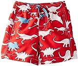 Hatley Little Boys Dinos Swim Trunks, Red, 4