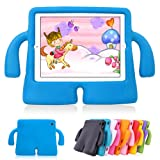 Lioeo iPad Air 2 Kids Case iPad Air Kids Case Cute 3D Cartoon Light Weight Shock Proof Protection Cases EVA Foam Protective Children Cases and Covers for Apple iPad 5 6 Generation New iPad 2017 (Blue) (Color: Blue, Tamaño: 9.7 inch)