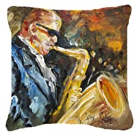 Caroline's Treasures JMK1277PW1414 Jazz Saxophone Canvas Fabric Decorative Pillow, Large, Multicolor