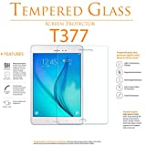 2 Pack Galaxy Tab E 8.0 Inch Screen Protector - YCXBOX Tempered Glass - Anti-Scratch 9H Hardness HD Clear Screen Protector for Samsung Galaxy Tab E 8.0 (SM-T377) (Color: Clear)