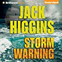 Storm Warning Audiobook by Jack Higgins Narrated by Michael Page