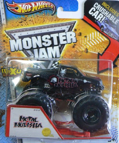 Hot Wheels Monster Jam Metal Mulisha with Crushable Car - 1