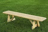 "Pressure Treated Pine 42"" Traditional Picnic Bench Amish Made USA- Unfinished"