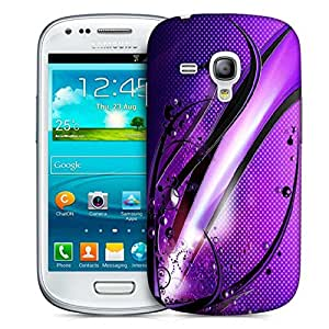 Snoogg Abstract Purple Glossy Design Designer Protective Phone Back Case Cover For Samsung Galaxy S3 Mini