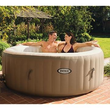Intex PureSpa 4-Person Inflatable Portable Hot Tub (28401E)