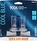 Sylvania 9006 CB Cool Blue Halogen Headlight Bulb (Low Beam), (Pack of 2)