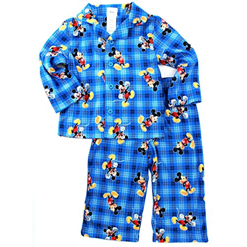 Mickey Mouse Toddler Blue Flannel Pajamas