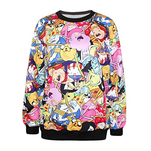 Ecollection 3D Adventure Time Digital Print Sweatshirts Jake and Finn Fashion Tops Hoodies (AD12) hier kaufen