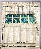 Adirondack Kitchen Curtain - 36'' tier pair - Ecru/Toast