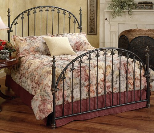 Hillsdale Furniture 1038Bqr Kirkwell Bed Set With Rails, Queen, Brushed Bronze front-10648