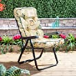 Alfresia Traditional Luxury Garden Recliner Cushion in Leaf Beige