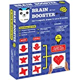 Brain Booster : Set Two (56 Puzzles Designed To Boost Intelligence)(magnetic Shapes + Magnetic Board + Puzzle...