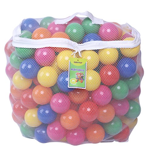 Click-N-Play-Pack-of-200-Phthalate-Free-BPA-Free-Crush-Proof-Plastic-Ball-Pit-Balls-6-Bright-Colors-in-Reusable-and-Durable-Storage-Mesh-Bag-with-Zipper