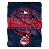 The Northwest Company MLB Cleveland Indians Structure Micro Raschel Throw, 46-Inch by 60-Inch