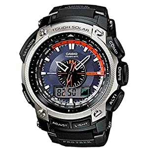 Casio Pro-Trek Men's Radio Controlled Solar Powered Triple Sensor Combi Watch PRW-5000-1ER with Resin Strap