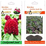 Alkarty Cockscomb and Tulsi Seeds Pack Of 20 (Summer)