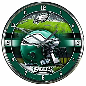 NFL Philadelphia Eagles Chrome Clock by WinCraft