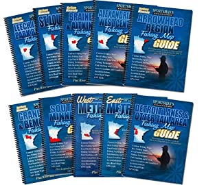 Minnesota Fishing Map Book Guides Set by Sportsman