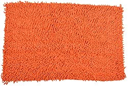 Impact Home Solid Chenille Shaggy Bathmat - Red