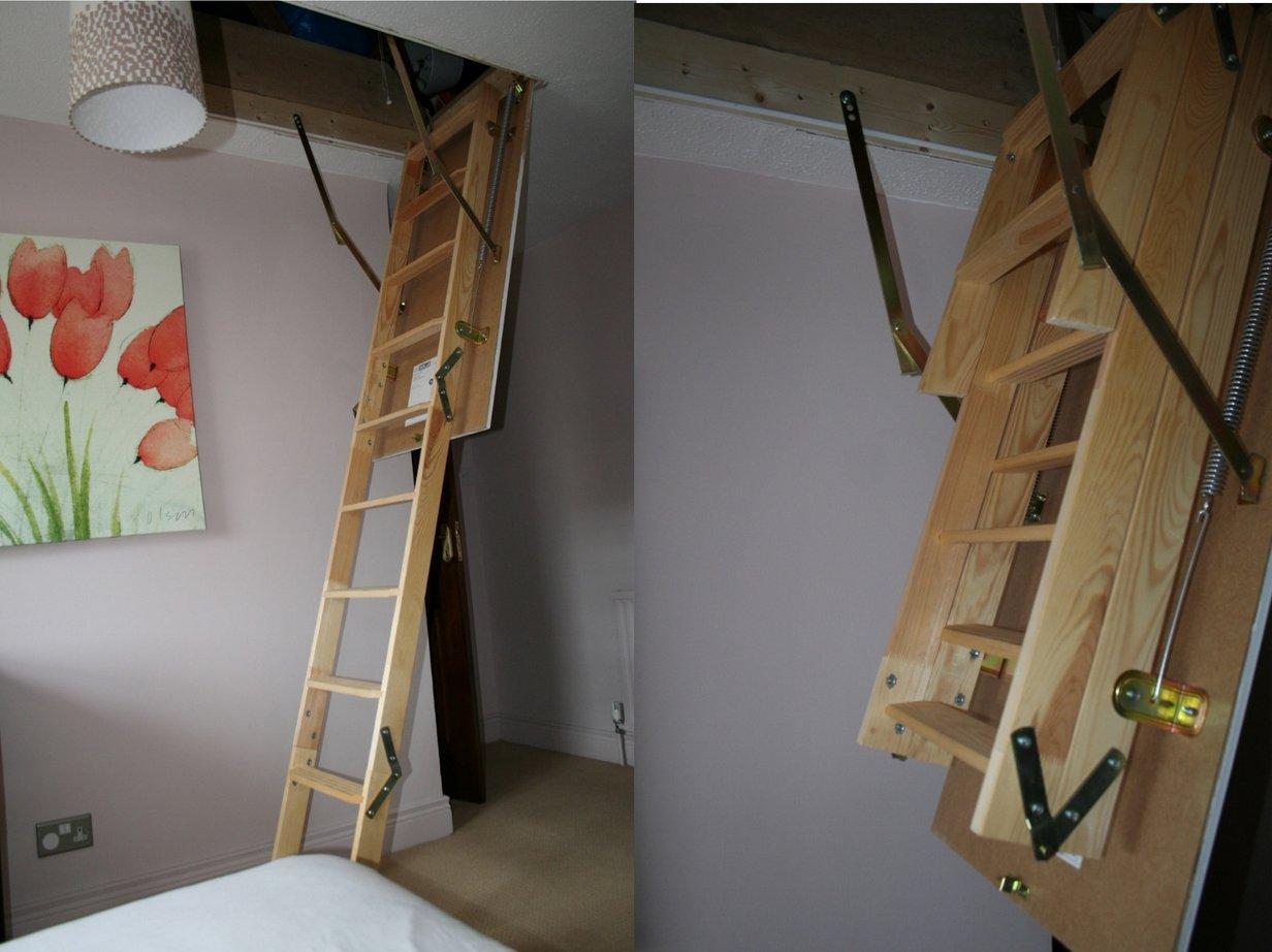 Лестница раскладная на чердак своими руками - делаем пошагово 10