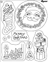 Pergamano Clear Stamp Set - Santa & Presents #41917