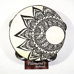 Crescent moon, Mandala tambourine, Moon tambourine, Henna tambourine, Indian wedding, Tribal india, Henna moon, Mehndi moon, Hippie moon