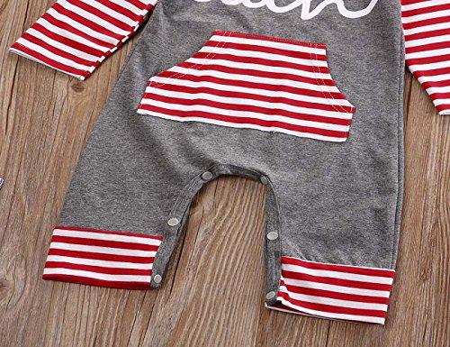 2016 Newborn Infant Kids Boys Girls Winter Romper - SUPPION Fashion Baby (6-12M, Red)